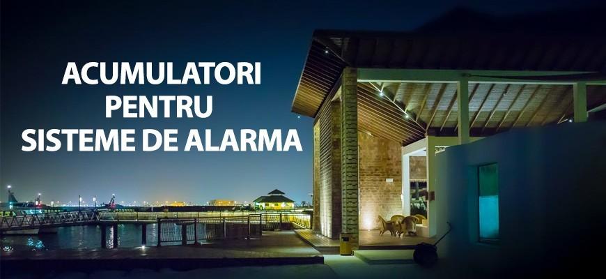 Acumulatori pentru sisteme de alarma